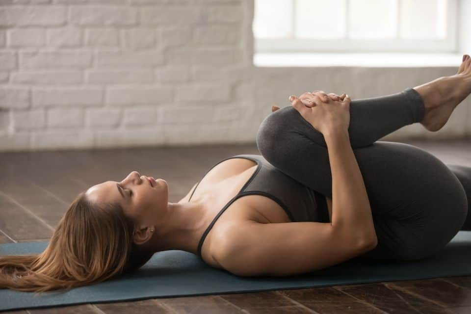 Reclined Hand to Toe Pose